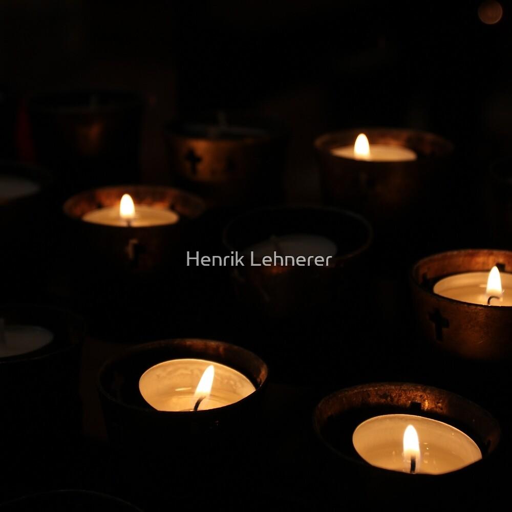Church Candles by Henrik Lehnerer