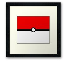 Pokeball Minimalist Pokémon GO Very High Quality Framed Print