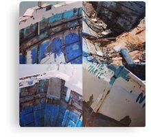 Boat wrecks Canvas Print