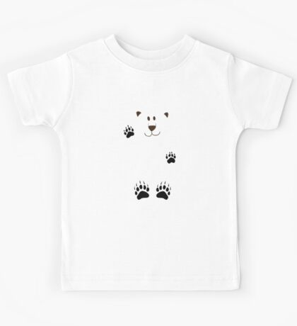 SAY HI TO THE BEAR IN THE SNOWSTORM Kids Tee