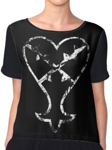Kingdom Hearts Heartless grunge Chiffon Top