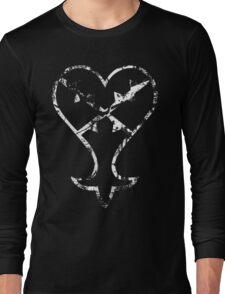 Kingdom Hearts Heartless grunge Long Sleeve T-Shirt