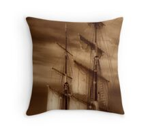 Tall Masts Throw Pillow