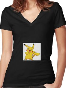 Pokemon Collection  Women's Fitted V-Neck T-Shirt