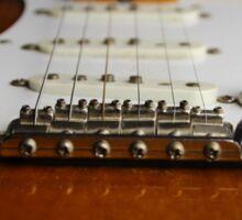 Close up Electric Guitar Sticker