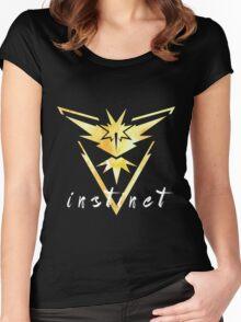 Pokemon Go - Instinct Watercolor Women's Fitted Scoop T-Shirt