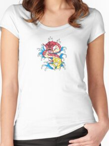 Shiny Magikarp VS Red Gyarados! Women's Fitted Scoop T-Shirt