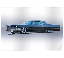 1967 Cadillac Custom Coupe DeVille Poster