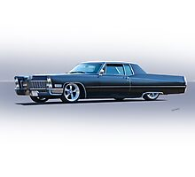 1967 Cadillac Custom Coupe DeVille Photographic Print