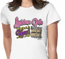 Louisiana Girls Tiger GEAUX LSU Who Dat Saints Womens Fitted T-Shirt