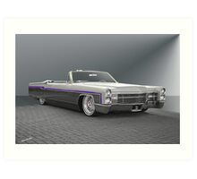 1966 Cadillac Custom Eldorado Convertible Art Print