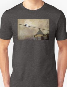 NIGHTFALL AND A CROW Unisex T-Shirt