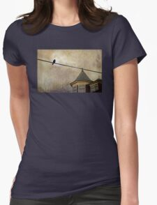 NIGHTFALL AND A CROW Womens Fitted T-Shirt