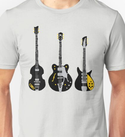 Beatles Guitars Unisex T-Shirt