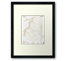 USGS TOPO Map Arizona AZ Bitter Springs 310484 1985 24000 Framed Print