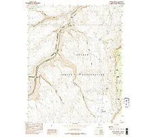 USGS TOPO Map Arizona AZ Bitter Springs 310484 1985 24000 Photographic Print