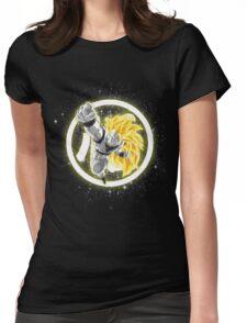 SSJ3 Goku w/ Kanji Womens Fitted T-Shirt