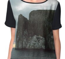 Rock formation Galapagos Islands Chiffon Top