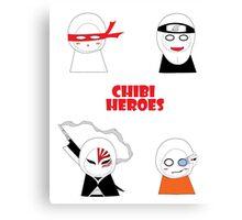 Chibi Heroes Canvas Print