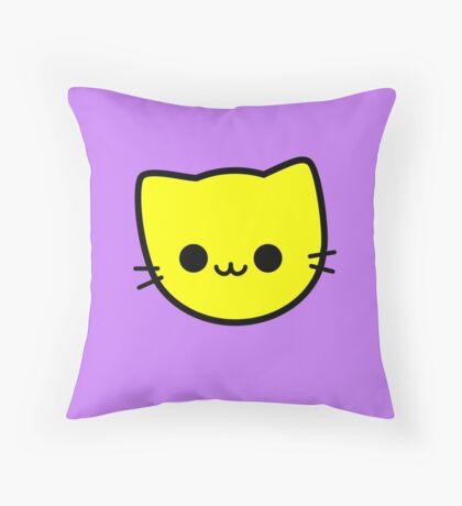 Kawaii Kitty Cats 2048 - tile 4 Throw Pillow