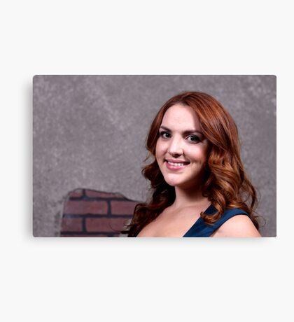 Woman Red Hair Canvas Print