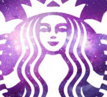 Purple Galaxy Starbucks Logo Sticker