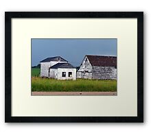 Farm House After The Storm Framed Print