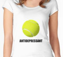 Antidepressant Tennis Women's Fitted Scoop T-Shirt