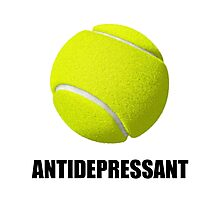 Antidepressant Tennis Photographic Print