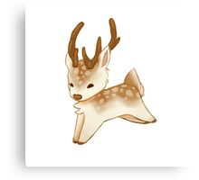 Small Cute Deer Canvas Print