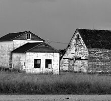 Farm House After The Storm In Black And White by Jeff Alexander