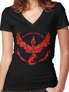 Red Team Women's Fitted V-Neck T-Shirt