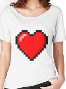 PIXEL HEART TUMBLR Women's Relaxed Fit T-Shirt