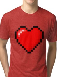 PIXEL HEART TUMBLR Tri-blend T-Shirt