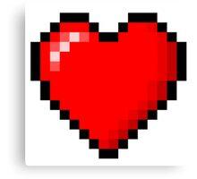 PIXEL HEART TUMBLR Canvas Print
