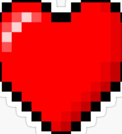 PIXEL HEART TUMBLR Sticker