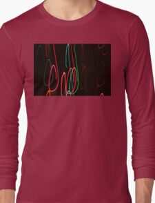 Abstract Motion Lights Long Sleeve T-Shirt