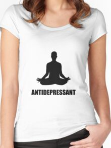 Antidepressant Yoga Women's Fitted Scoop T-Shirt