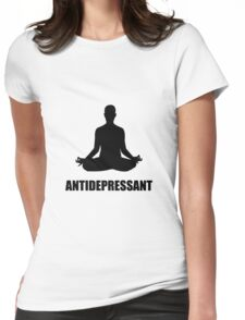 Antidepressant Yoga Womens Fitted T-Shirt