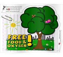Free food & oxygen Poster