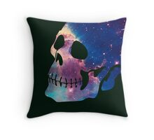 Dope Galaxy Blowout Skull Throw Pillow
