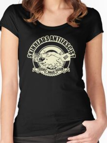 SKINHEAD ANTIFACIST Women's Fitted Scoop T-Shirt