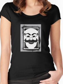 Mr. Robot Masked Women's Fitted Scoop T-Shirt