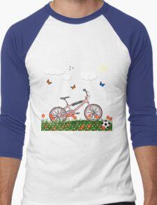 Pink bicycle Men's Baseball ¾ T-Shirt