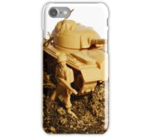 Soldier and tank iPhone Case/Skin