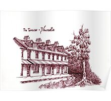 Classic Terrace building Poster