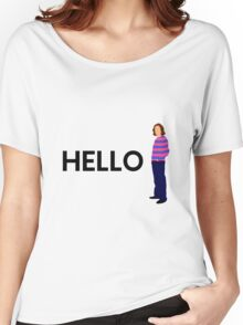 """James May """"hello"""" original design Women's Relaxed Fit T-Shirt"""