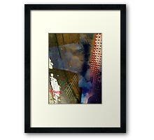 Blue Skies, Red Dots Framed Print