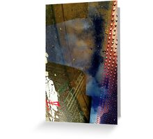 Blue Skies, Red Dots Greeting Card