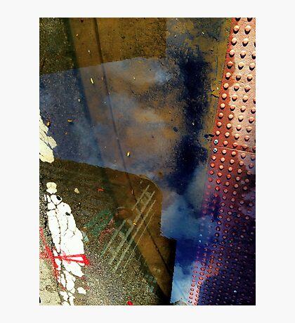 Blue Skies, Red Dots Photographic Print